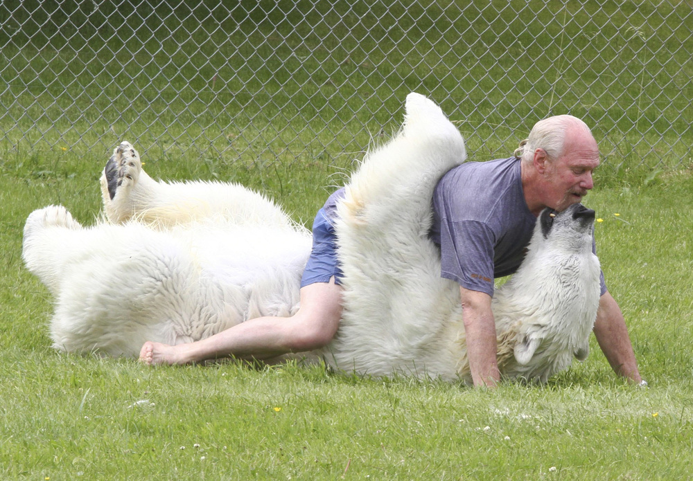 Grizzly Man Mark Dumas Is The Only Man In The World Who Can Touch A Polar Bear
