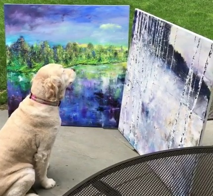 Ella compares two paintings