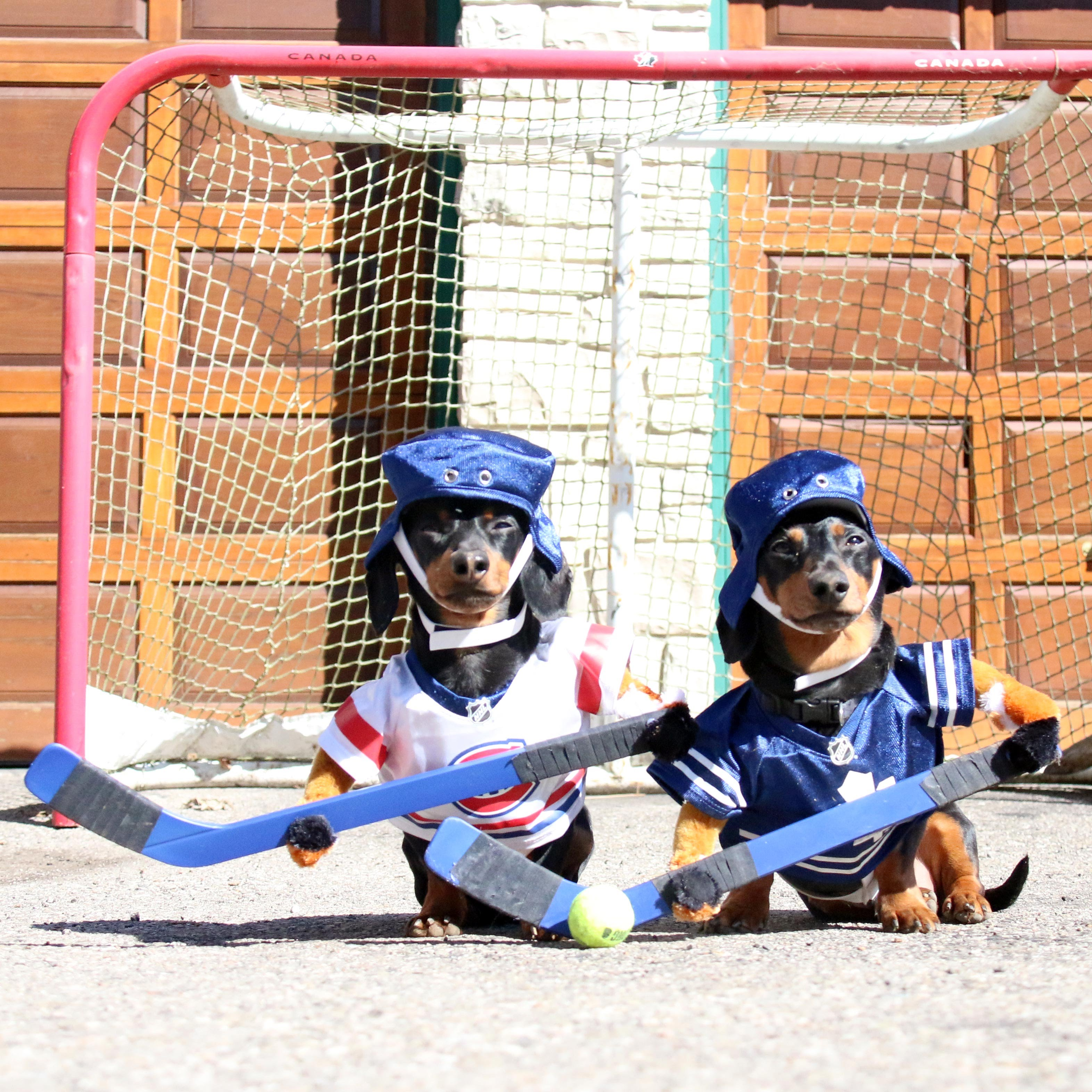 Crusoe plays hockey