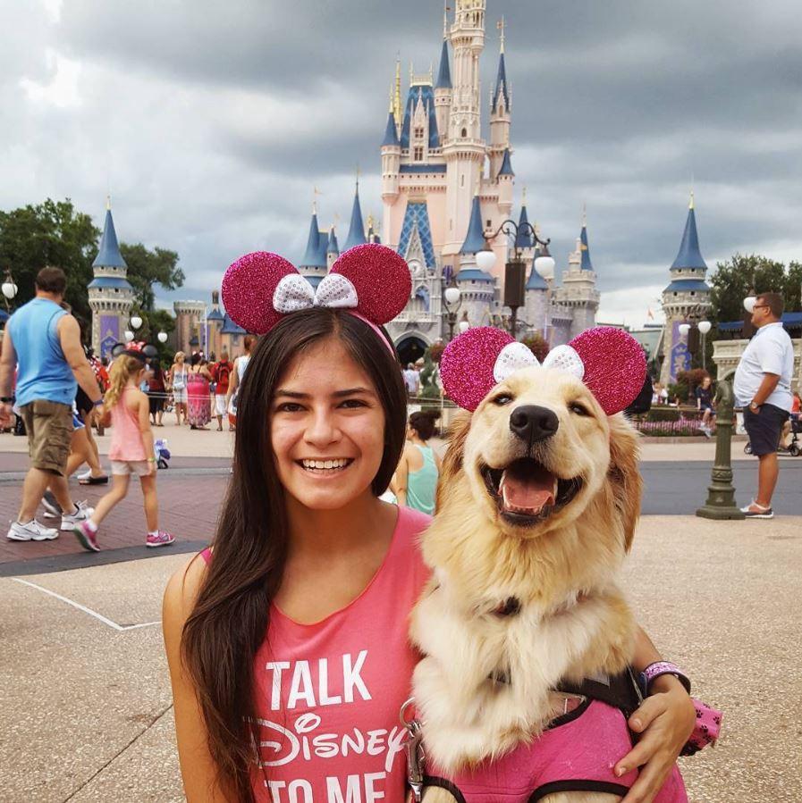 Harlow loves Disney