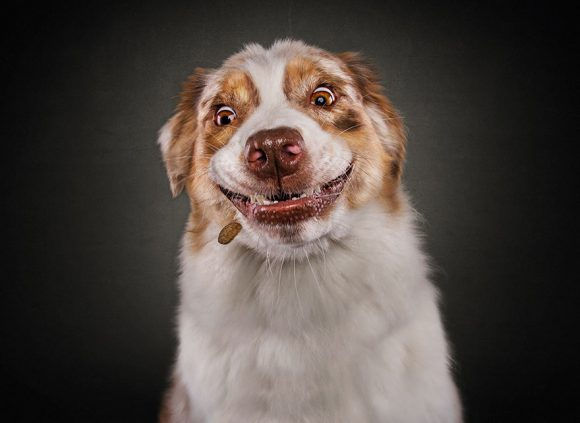 That smile you get on your face when you see the waiter is bringing out your food...FINALLY