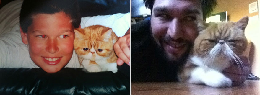 12 years cat and owner