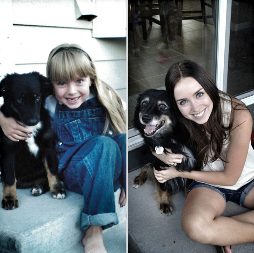 14 years apart dog and owner